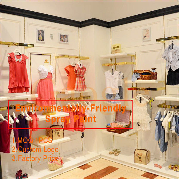 Newly come high end kids dress up metal clothing shelf المزود