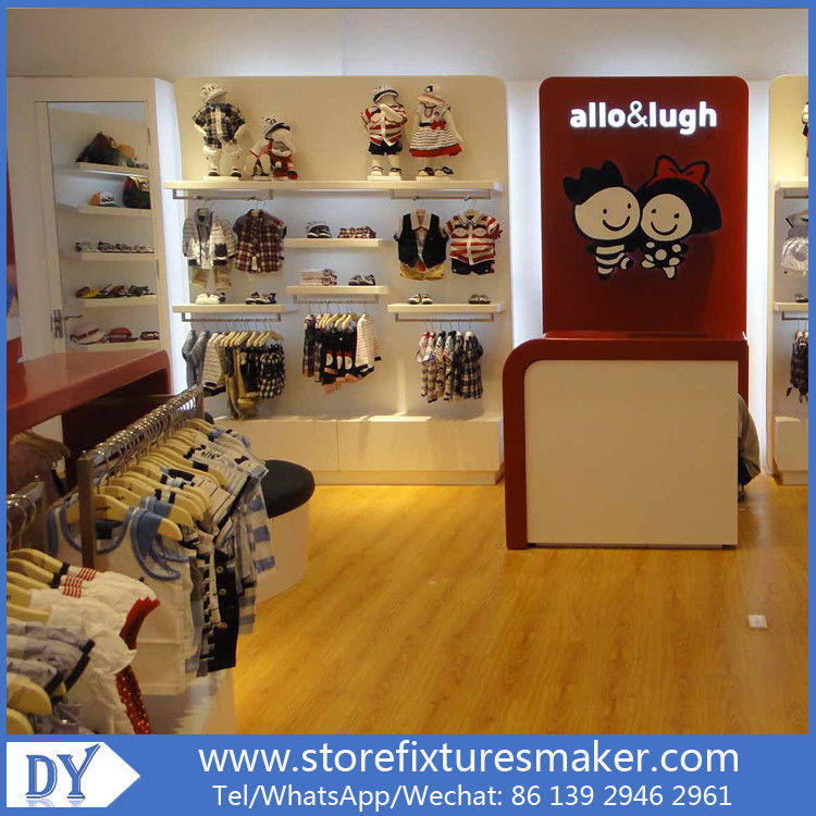 Lovely Kids Clothes Shops - Manufactory Baby Kids Shop display furnitures with led  lights المزود